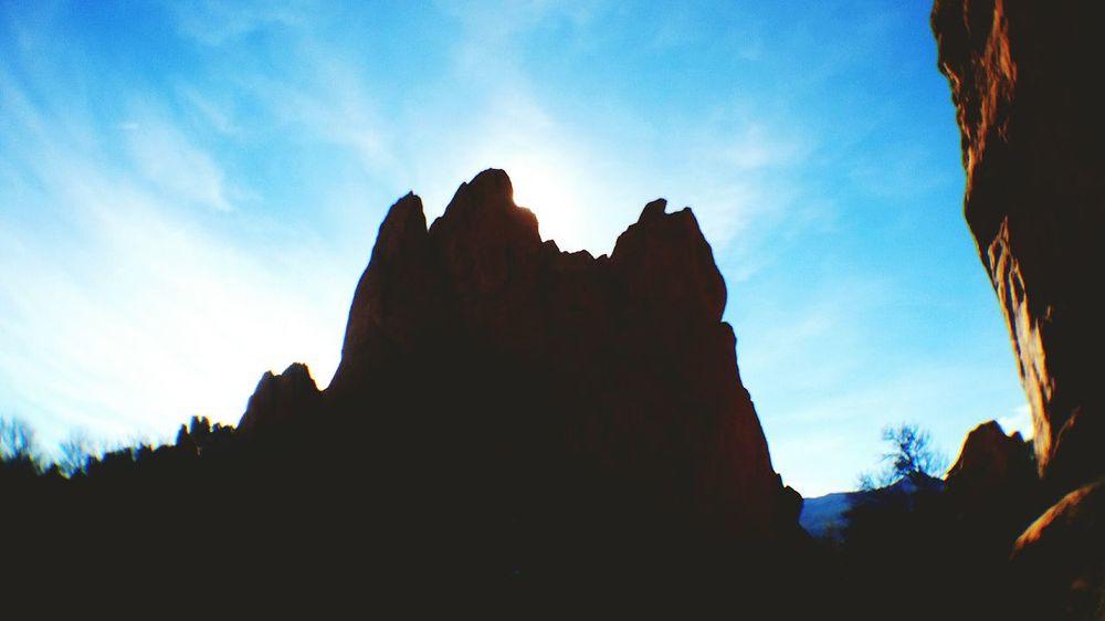 Silhouette Archival Outdoors Sky Sunlight ☀ Gardenofthegods Colorado Photography Cloudscape