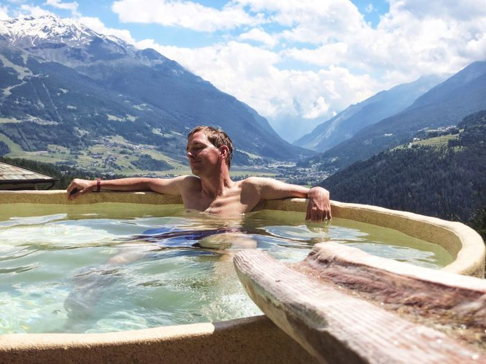 43 Golden Moments Hot Spring Relaxation Italian Alps Bormio Mountains Relax Relaxing Relaxing Moments Landscapes Nature Travel Thermal Pool Thermal Waters TCPM