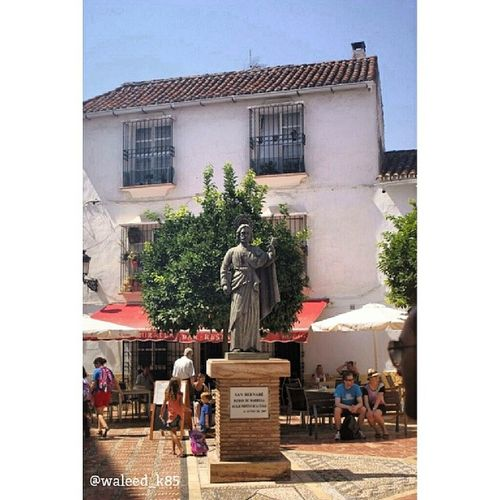 Saint SanBernabe Statue at PlazaDeLaIglesia in OldTown MarbellaOldTown. marbella malaga Andalusia spain españa Taken by my sonyalpha dslr A200. Taken in my 2012 summer trip ماربيا اسبانيا البلد تمثال قديس