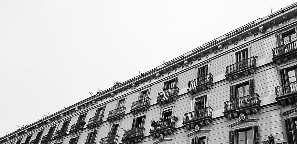 Geometry Barcelona- El Born Low Angle View Architecture Biking Around Eye4black&white  Cityscape Catalunya Cityscapes City Street Black And White Photography The Minimals (less Edit Juxt Photography) EyeEm Best Shots - Black + White Somosfelices Fortheloveofblackandwhite Streetsofcatalunya Barcelona, Spain Blancoynegro Black And White Collection