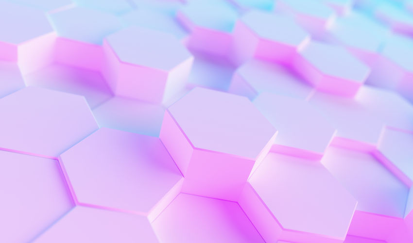 hexagonal background. Futuristic technology concept. colorful bright neon uv blue and purple Hex geometry pattern. White Wallpaper Virtual Reality Trendy Technology Surface Studio Shot Still Life Square Shape Row Repetition Realistic Rainbow Purple Play Pink Color Pink Pattern Party Paper Octagon No People Network Neon Multi Colored Modern Light LED Large Group Of Objects Indoors  Hive Hi-tech High Angle View Hexagonal Hexagon Glow Geometry Geometric Shape Gaming Gamer Futuristic Full Frame Fluorescent Event Entertainment Electric Effect Disco Digital Design Cyber Copy Space Concept Computing Computer Composition Colorful Close-up Business Blue Background Blue Backgrounds Background Art And Craft Art Abundance Abstract