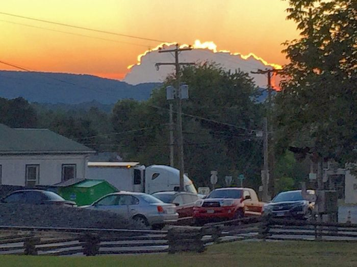 8.27.16 | Investigating the legitimately haunted Exchange Hotel/ makeshift soldier hospital (during the Civil War) with friends | Gordonsville, VA | Photo: Michael F. Pichette/ NOVA Paranormal Research Sunset Virginia Taking Photos Clouds And Sky Landscape Outdoors