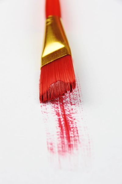 Red Red Brush Red Paint Brush Paint Macro Studio Shot No People Close-up White Background Colour