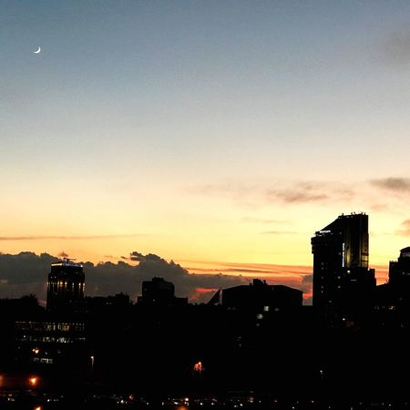 Sunset Architecture City Silhouette Building Exterior Built Structure Sky Cityscape Skyscraper No People Outdoors Illuminated Nature Ayistanblue
