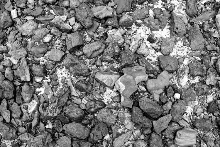Backgrounds Black & White Black And White Black And White Photography Blackandwhite Blackandwhite Photography Bnw Close-up Cobblestone Full Frame High Angle View Monochrome Nature Outdoors Pattern Road Rock - Object Rocks Rocks Pattern Rocky Stones Strong Textured  Textures And Surfaces The Rocks