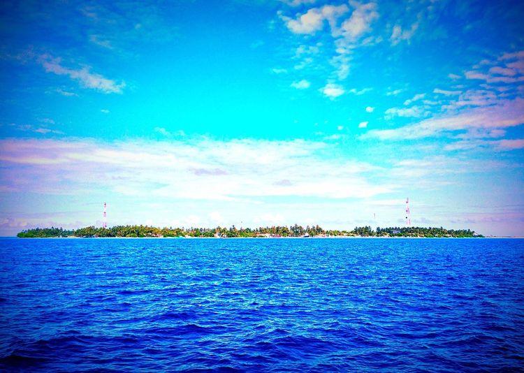 Blue Sky Taking Photos Today Hot Look  Maldives