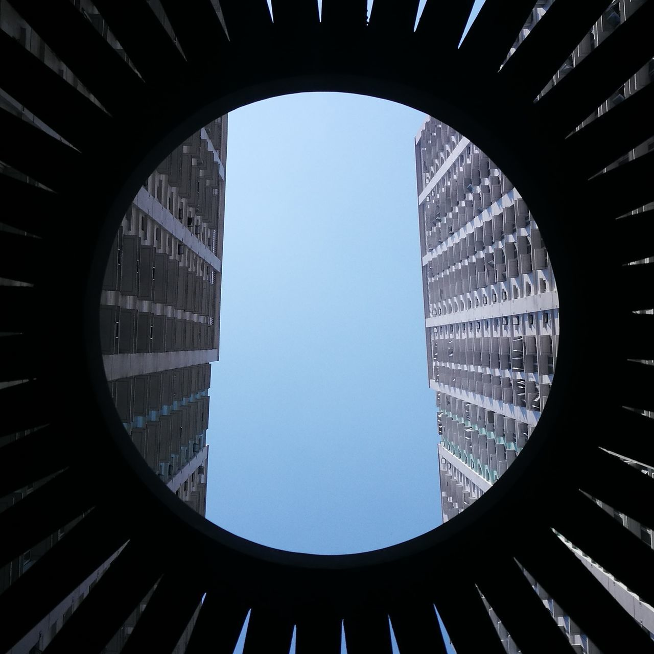 architecture, indoors, low angle view, built structure, no people, day, clear sky, close-up