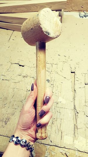 Human Body Part Human Hand Close-up Wooden Texture Manufacturing, Production; Construction Wooden Piece Craftsmanship  Factory Photo Craftsmanship  Carpentry Full Frame Wood - Material Art And Craft High Angle View Hammer Manicurednails Woman At Work Elegant Woman Rough Background