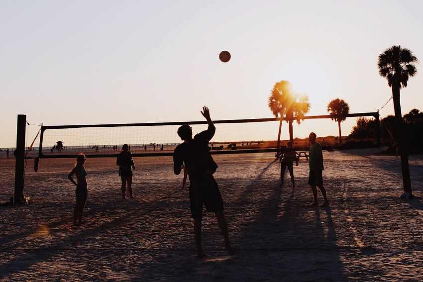 Sports bring people together. Taking Photos Enjoying Life Fl Beautiful Beauty In Nature Beautiful Nature Taking Photos Relaxing Beachphotography Beach Sunset Colors The Photojournalist - 2016 EyeEm Awards Volleyball Sports Sports Photography Beachvolleyball