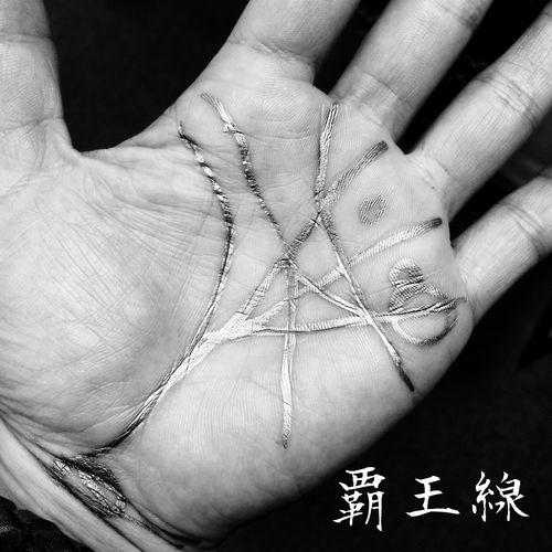 覇王線褒められる。実際そんな運を感じない(´・ω・`;) Palmistry Hand Blackandwhite Black And White