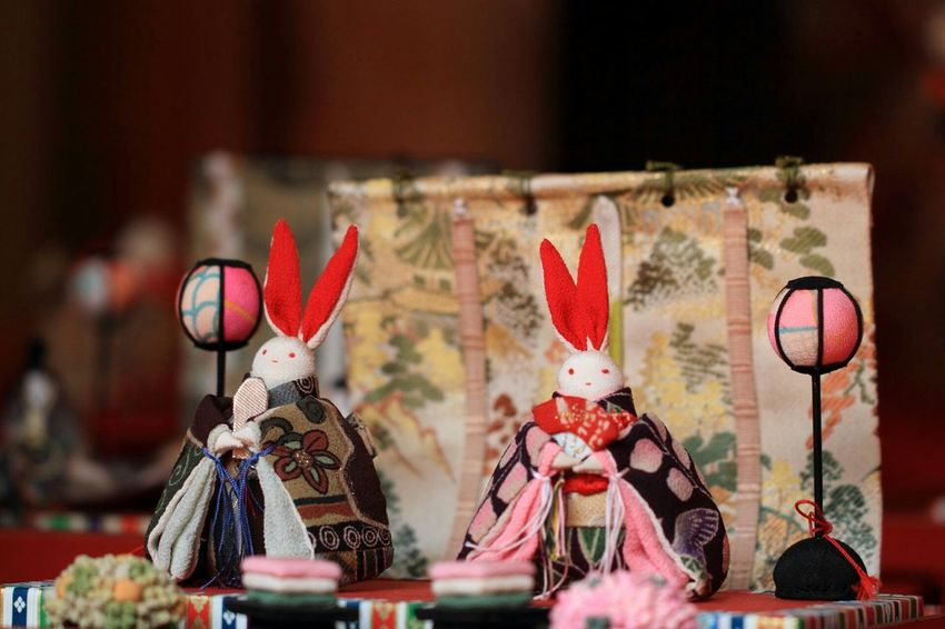Asian Culture Ohinasama Hinamatsuri Rabbits Handmade Japanese Traditional