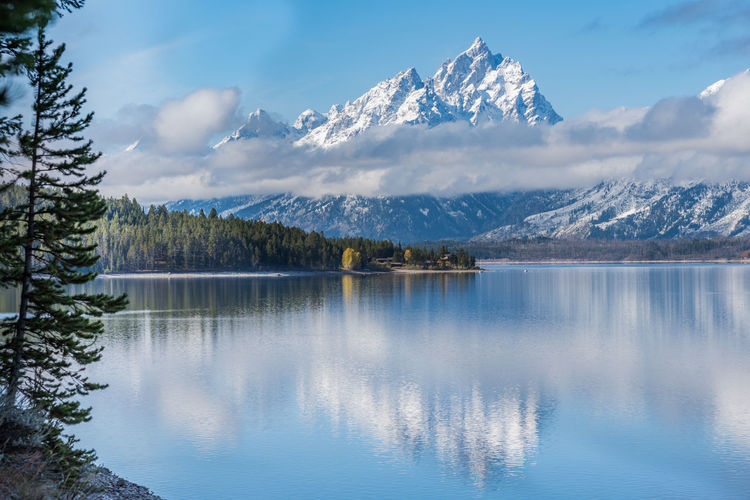 Grand Teton National Park, 2017 EyeEmNewHere Fall Beauty Grant Teton National Park Low Clouds Nature Water Reflections Wyoming Landscape Landscape_photography Snowcapped Mountain