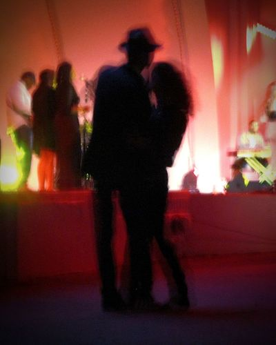 Beautyeverywhere Lovely Silhouette Two People Togetherness Illuminated Dancers Dancing The Night Away Love Photography Blurred Perspective Blurryvision
