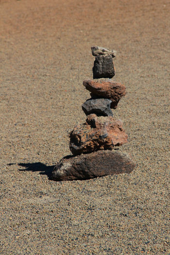 Beach Canadas Del Teide Close-up Day Desert Landscape Nature No People Outdoors Sand Stack Stone - Object Tenerife