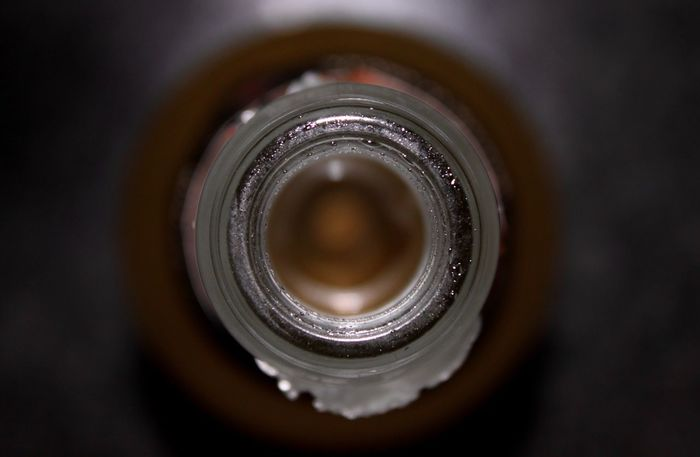 Bottle Bottleneck Circle Close-up Concentric Inside No People