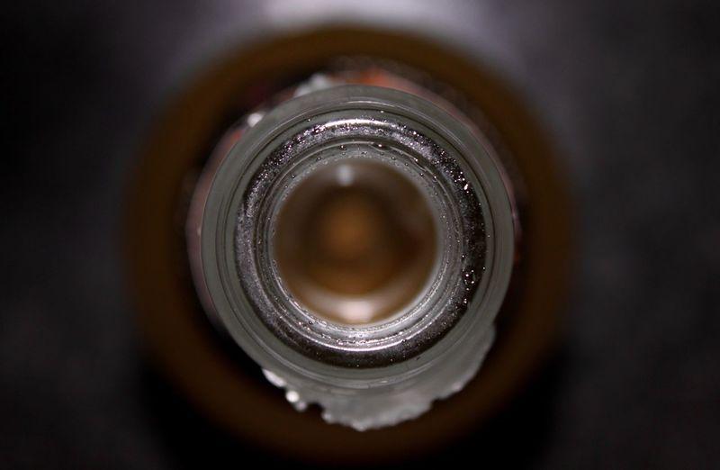 Bottle Bottleneck Circle Close-up Concentric Inside No People