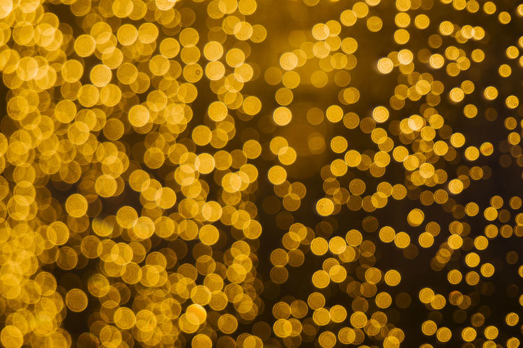 Backgrounds Bokeh Close-up Defocused Depth Of Field Illuminated Large Group Of Objects No People Textured  Yellow
