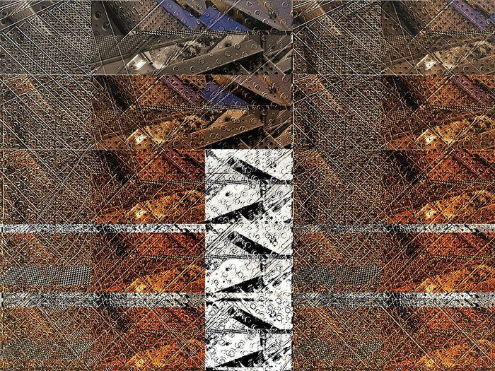 some glitches look good Computer Art Computer Glitch Copper Tones Metal Art Random Repeated Patterns