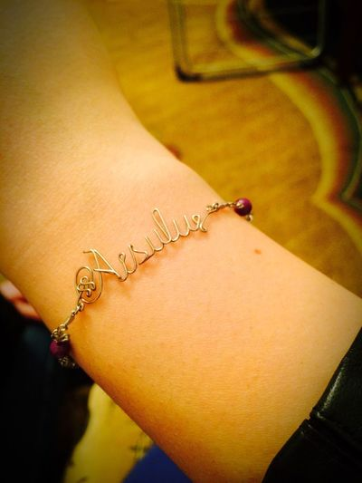 Gift from Shanghai - new Bracelet with my Name . Love it ???