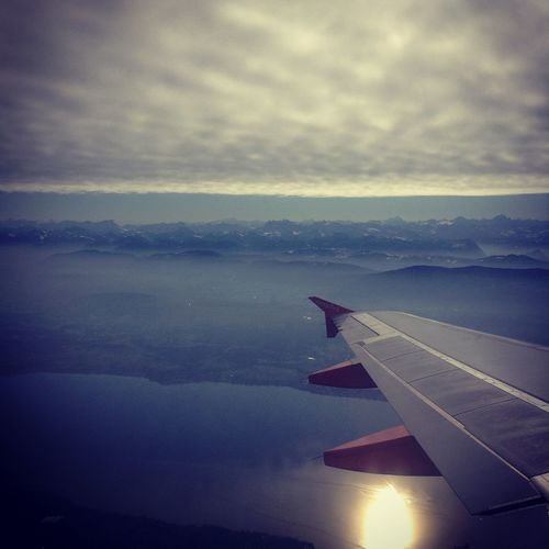 Clouds And Sky Jet Plane Landscape
