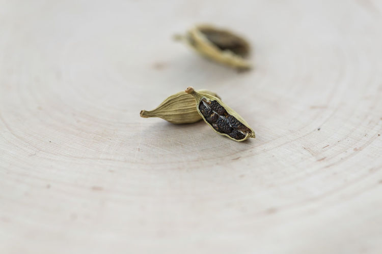 Close-up of cardamom on table