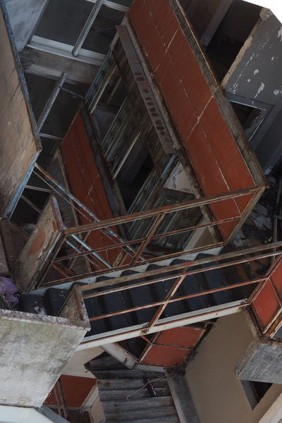 Scampia Architecture Broken Down House Built Structure Close-up Documentary Failure  Lost Place Low Angle View Napoli Sails Scampia Social Housing Staircase Steps And Staircases Vele