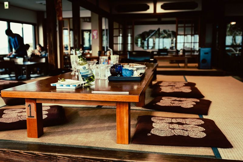 Table Indoors  Business Incidental People Food And Drink Focus On Foreground Restaurant Seat Day Wood - Material