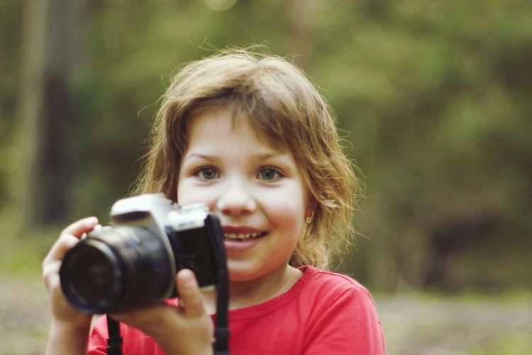 Alexis learning photography whilst on geocache adventure.. 35mm Camera 35mm Film