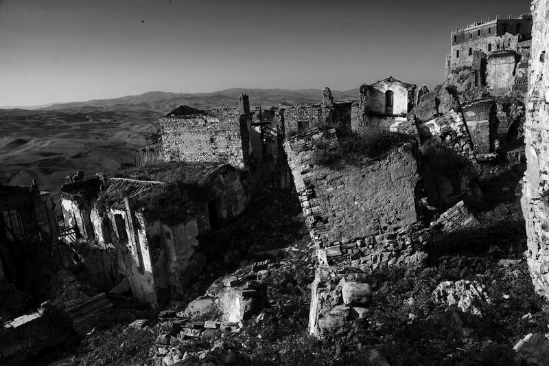 Abandoned Bad Condition Basilicata, Italy  Blackandwhite Craco Deterioration Inhabited No People