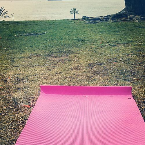 Attending my first yoga class at the Beach...Breath n Breath out...Stress life takes work.. ,Yoga , Yogaatthebeach , Breathinbreathout ,Stressfree , stressfreelife