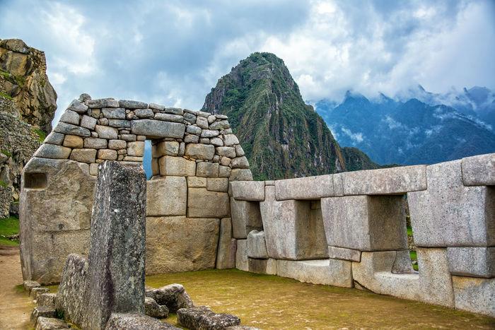 Intricate Incan stonework at Machu Picchu, Peru Ancient Andes City Civilization Culture Cusco Cusco, Peru Cuzco Famous Inca Landmark Lost Machu Picchu Mountain Old Panorama Peru Ruin Stone Tourism Travel Unesco UNESCO World Heritage Site Valley World