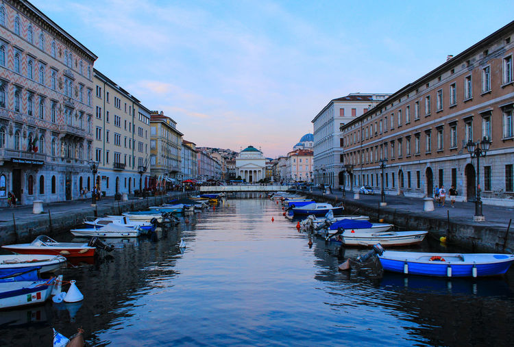 Architecture Built Structure Canal City Day No People Outdoors Reflection Sky Travel Destinations Trieste Water Waterfront