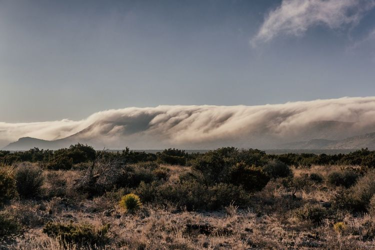 Cold front over a mountain top near Big Bend National Park