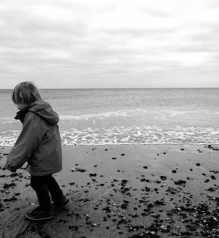 Blackandwhite Beachphotography Clacton Seaside Boy Nephew