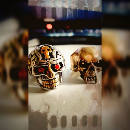 my rings Skulls Paintshop Pro Aftershot Silver  Jewelry EyeEm Selects Spooky Close-up