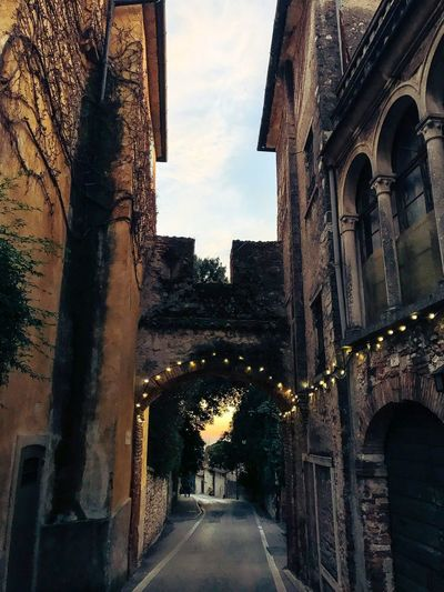 After Sunset Shotoniphone7 ShotOnIphone Arch Old Town Asolo, Italy Asolo Architecture The Way Forward Built Structure Road No People Outdoors Day