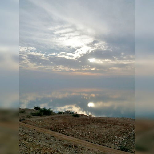 Dead Sea Cloud - Sky Sky Sunset Reflection Nature Tranquility No People