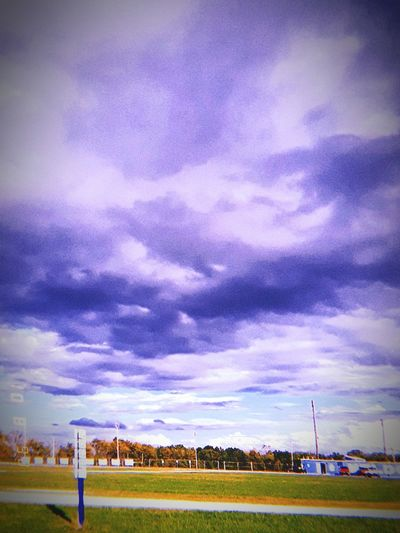 beautiful clouds over the football field ❤❤❤ Football Field Beautiful Sky❤ ❤❤❤❤❤❤❤❤❤❤❤❤❤❤❤❤❤ Storm Cloud Weather My Life ❤ Sky Cloud - Sky Goal Post Overcast Storm Thunderstorm Sky Only