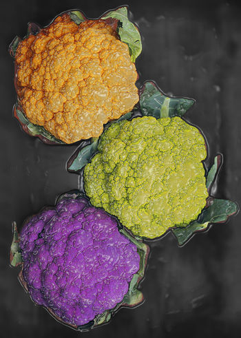 Plastic Sealed Rainbow Cauliflower 3 Beauty In Nature Cauliflower Close-up Colorful Focus On Foreground Freshness Green Color Group Growth Muliticolor Nutrition Orange Color Plastic Plastic Wrap Plastic Wrap Effect Produce Purple Rainbow Colors Sealed Trio Vacuum Sealed Vegetables Veggies Vibrant Color