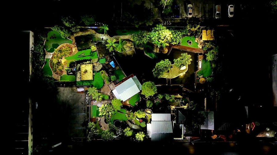 -The Jungle- Nighttime Drone At Night Simplicity Drone  Dronephotography Mavic Pro Birdseyeview Overhead negative space Night Illuminated Architecture No People Built Structure City Building Exterior Glowing