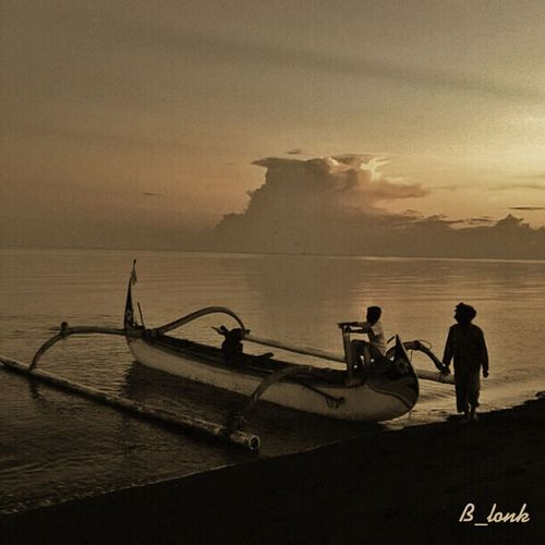 Biduk, perahu, sampan . . . Eye4photography  Monochrome Silhouette EyeEm Best Shots