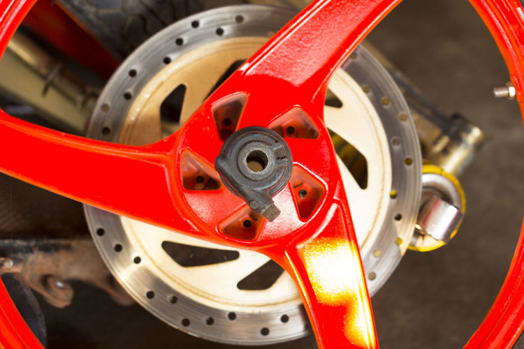 Close-Up Of Alloy Wheel