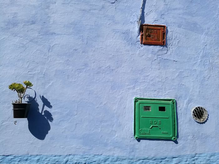 chefchaoun, the blue city Soonjourney MyWanderLust City Chefchaouen Blue City Vintage Unique Morocco Africa Wall Town Close-up Built Structure Building Exterior Architecture Green Color