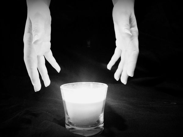 Candle Candlelight Hands Blackandwhite Black & White Photography Candle Collection