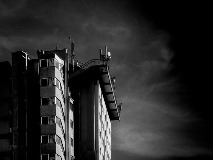 Architecture Black And White Built Structure Cityscapes Clouds And Sky Day No People Outdoors Shadow And Lights Sky South The Architect - 2017 EyeEm Awards Urban Wings Of Desire