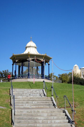 Adelaide, South Australia Architecture Australia Australia & Travel Australian Landscape Carousel Clear Sky Elder Park EyeEm Gallery Gazebo Gazebo At The Park Outdoors Park Park - Man Made Space Sky Staircase Stairs Travel Travel Destinations