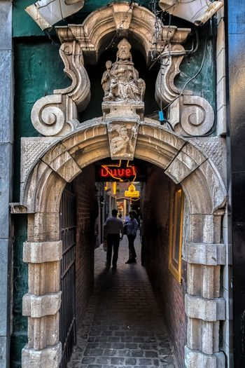 Impasse Saint-Nicolas Arch Architecture Building Exterior Built Structure Entrance Estaminet History Real People The Past Walking