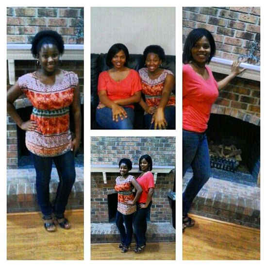 Meii and my bestie on our way to Apple Bees bestie night out