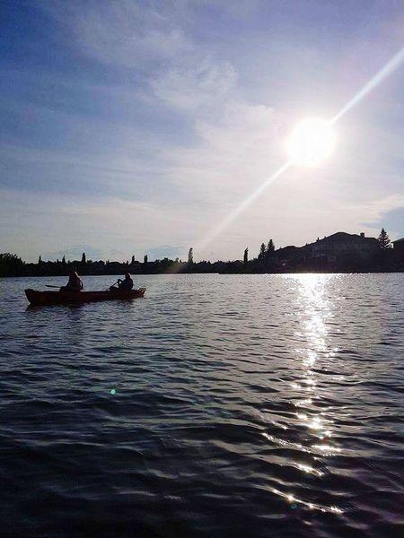 Canoe Canoes Canoe Lake Canoe And Water Canoes, Boats, High View, Recreation Lake Lakeshore Water Water Reflections