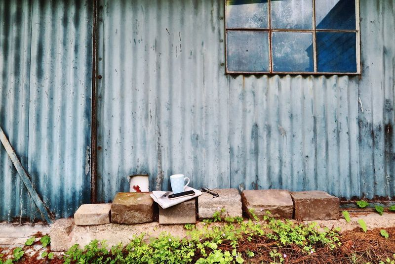 Area Coffee Glasses Nature Place Of Heart Relaxing Rest & Relax Blue Break Coffee Cup Communication Cup Day Garden Newspaper No People Outdoors Rest Area Sheet Sheet Metal Smartphone Still Life Stones Vintage Window Breathing Space